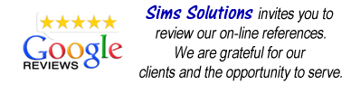 Sims Solutions Google Reviews | simssolutions.com | simssolutionsww.com