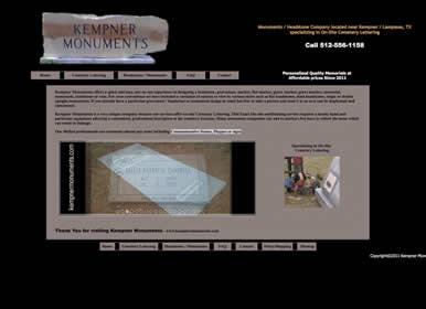 Monument, Engraving - Website by Sims Solutions | www.simssolutions.com