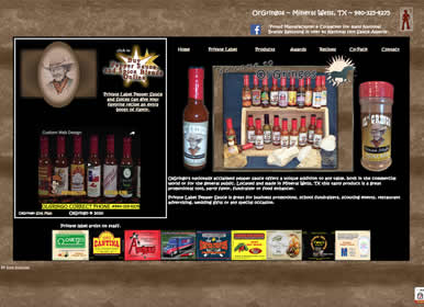 Private Label Pepper Sauce - Web Design by Sims Solutions