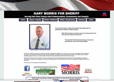 Sheriff-Election Website by Sims Solutions