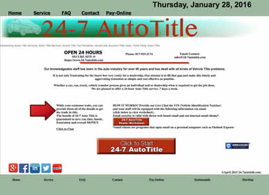 Auto Title Website by Sims Solutions