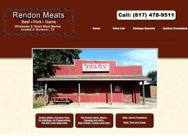 Meat Processing, Butcher website by Sims Solutions