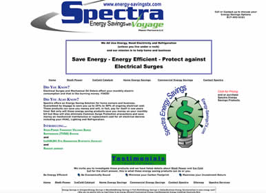 Save Energy and Home Surge Protector website design by Sims Solutions