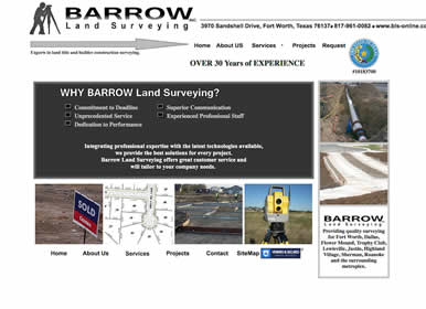 Land Surveying-Company-Website Design by Sims Solutions | www.simssolutions.com