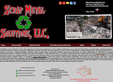 Scrap Metal and Demolision-Company-Website by SimsSolutions