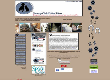 Florida and Texas Pet Sitting Company-Website by SimsSolutions