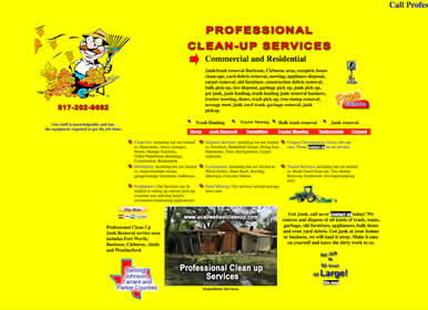 Junk Haul Off, Demolition website design by Sims Solutions