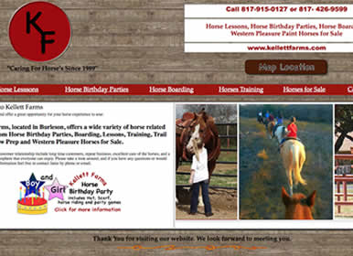Kellett Farms horse lessons, birthday parties, Horses for Sale - Sims Solutions Web Design