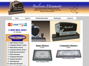 Cemetery Markers, Sims Solutions Web Design