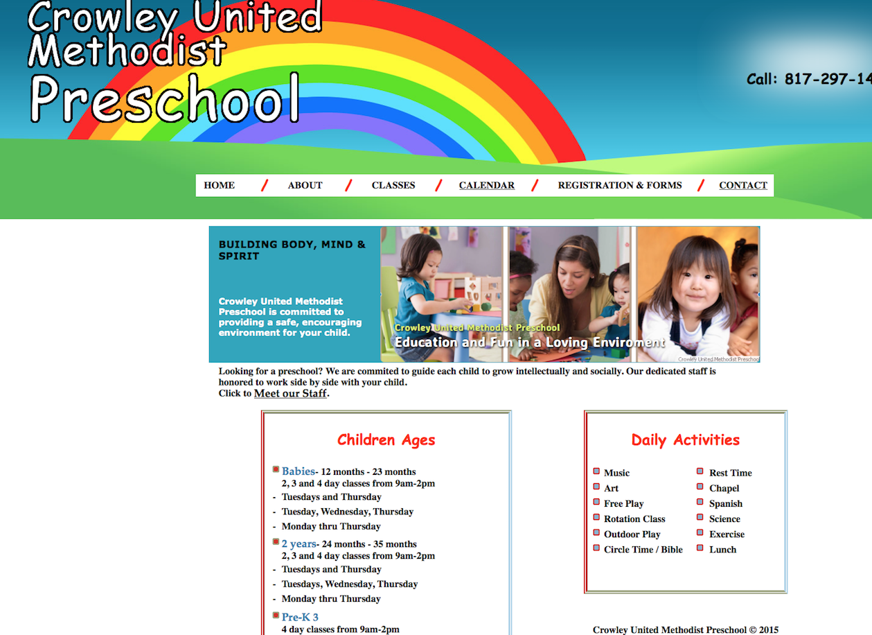 Preschool Web Design, Web Design by Sims Solutions