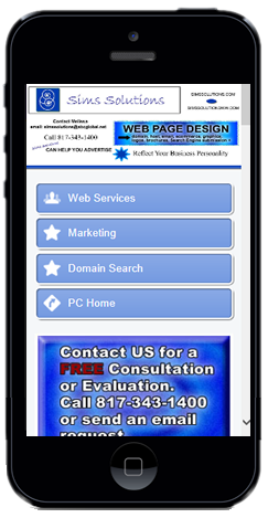 Need a Mobile Website, Sims Solutions Web Design can help!