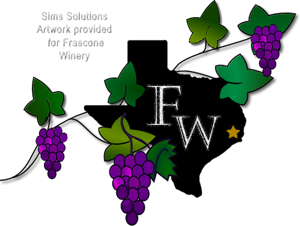 Sims Solutions graphic design for Frascone Winery -www.simssolutions.com